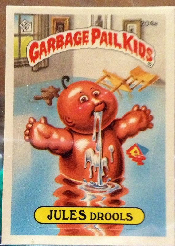 1986 Topps Garbage Pail Kids Trading Card 204a Etsy Garbage Pail Kids Garbage Pail Kids Cards Kids Stickers