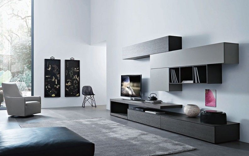 Designer Wohnwande Stilvolles Zentrum Fur Ihr Wohnzimmer Wohnen Wohnwand Grau Wohnzimmer Tv Wand Ideen