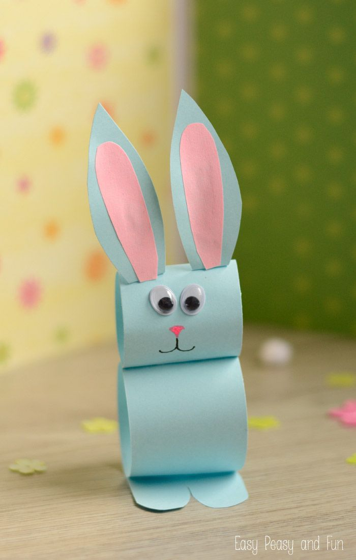 Paper bunny craft easy easter craft for kids bunny for Simple handicraft project
