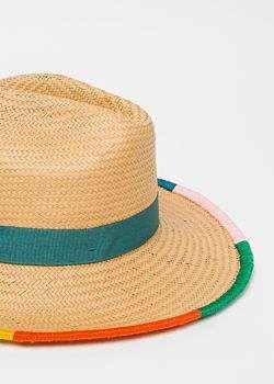 Paul Smith Women S Artist Stripe Border Plaited Hat Hats Hat Designs Women