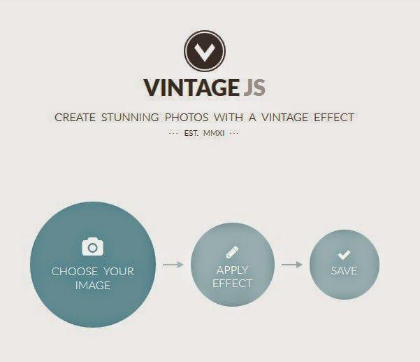 Vintage JS : trasforma le tue immagini in Vintage