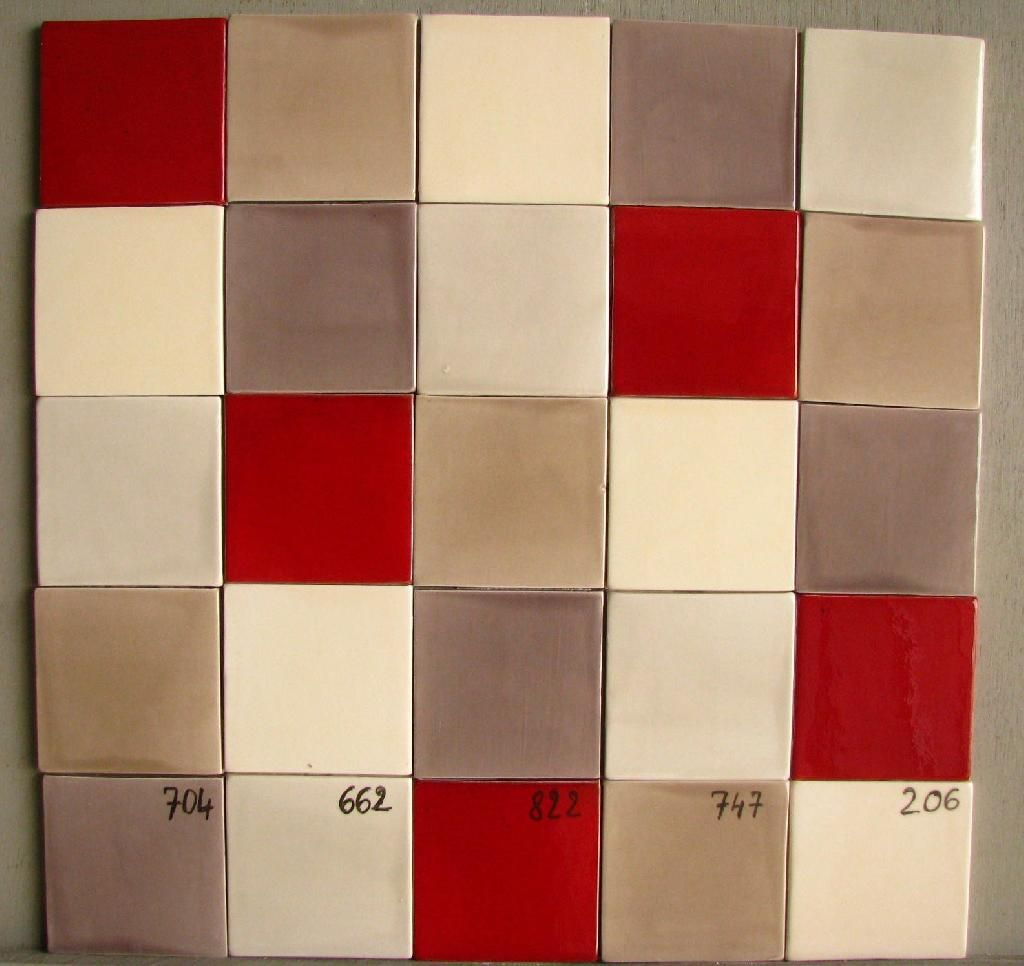 Faience cuisine 10x10 ton rouge 822 taupe 704 beige creme for Carrelage 10x10