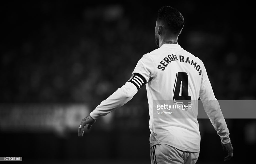 This Image Has Been Converted To Black And White Sergio Ramos Of News Photo Getty Images Sergio Ramos Real Madrid Logo Real Madrid
