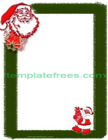 Santa Printable Christmas Border Design For Word PinBoard Free