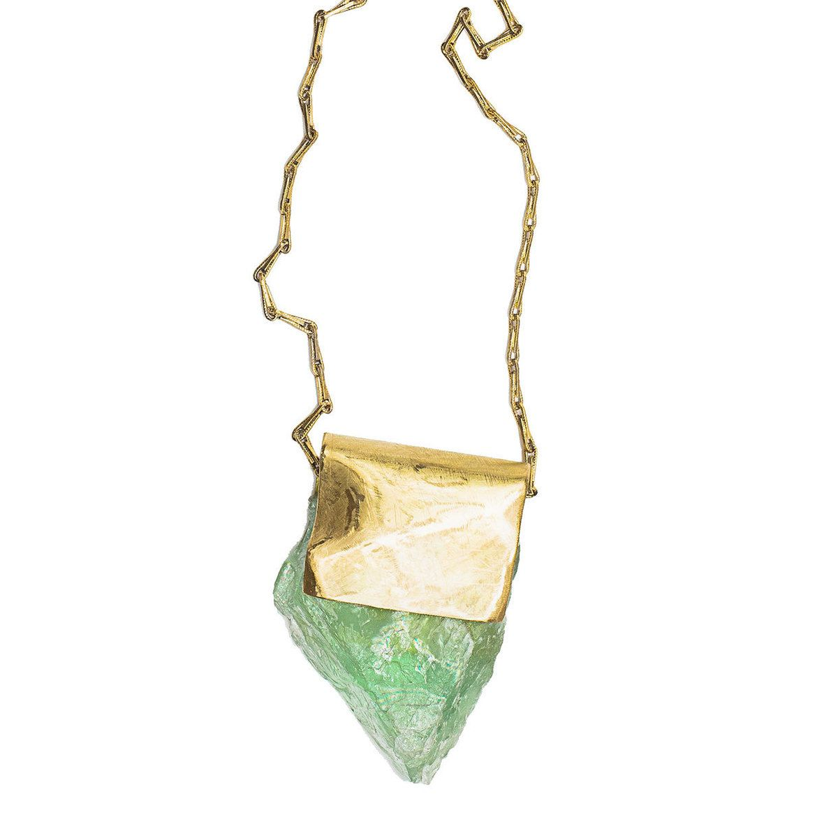 Pretty green fluorite necklace great way to set a stone craft