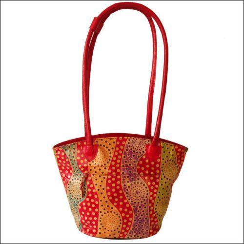Real-Leather-Handmade-India-Shantiniketan-Ethnic-Boho-Bag-Purse-Handbag-Tote