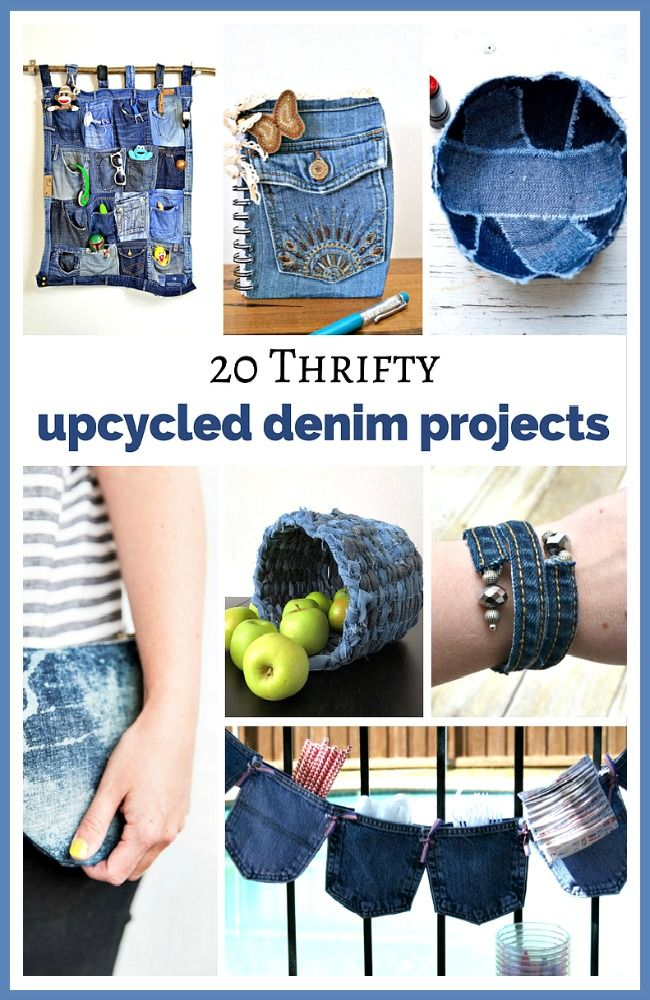20 thrifty upcycled denim projects fun diys to use up old for Denim craft projects