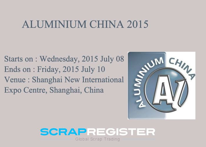 ALUMINIUM CHINA 2015 http://bit.ly/1QOpkR8