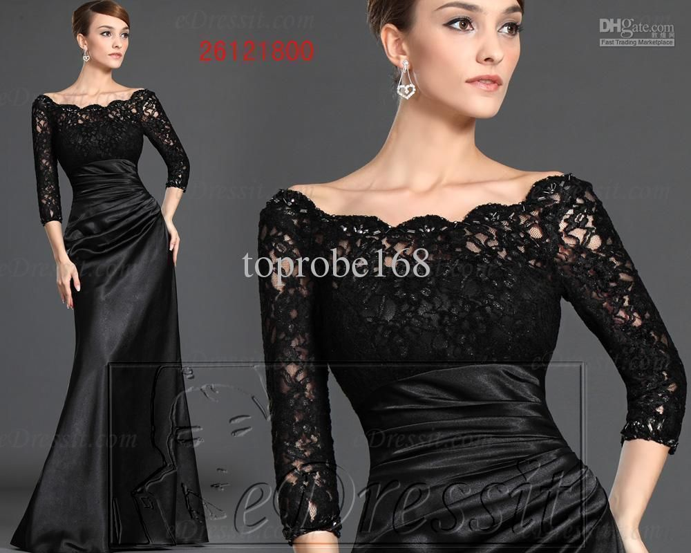 New black long lace sleeves bridesmaid custom crystals formal cheap prom dress discount bridesmaid custom crystals formal bridesmaid cocktail pageant evening online with 9412 ombrellifo Gallery