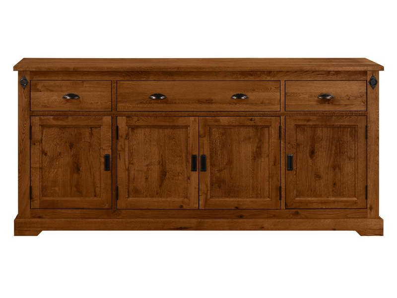Buffet 4 portes 3 tiroirs EDWARD - Conforama   Conforama ...