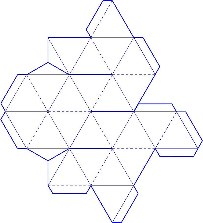 3d Star Tetrahedron Template Geometric Nets Tilling