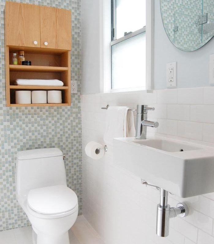 ▷ 1001 + astuces et idées du0027aménagement petite salle de bain 2m2 - salle de bain carrelage gris et blanc