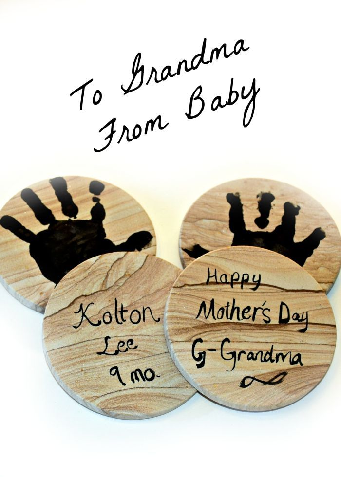 To grandma from baby happy mothers day coasters babies and gift to grandma from baby happy mothers day diy mothers day giftshappy negle Gallery