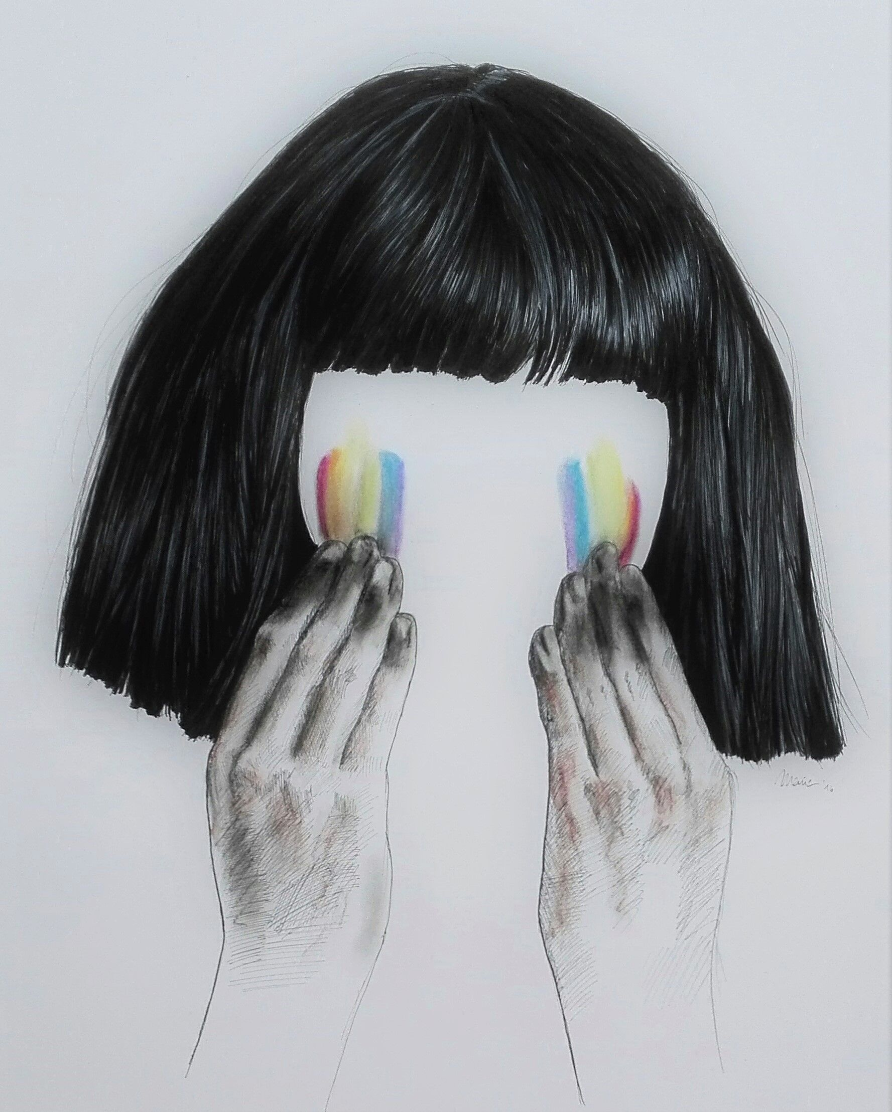 The greatest by sia with maddie ziegler by marie luise sehn the greatest by sia with maddie ziegler by marie luise sehn fineliner pastel chalk this song motivated me to handle my hardships gracefully arubaitofo Image collections