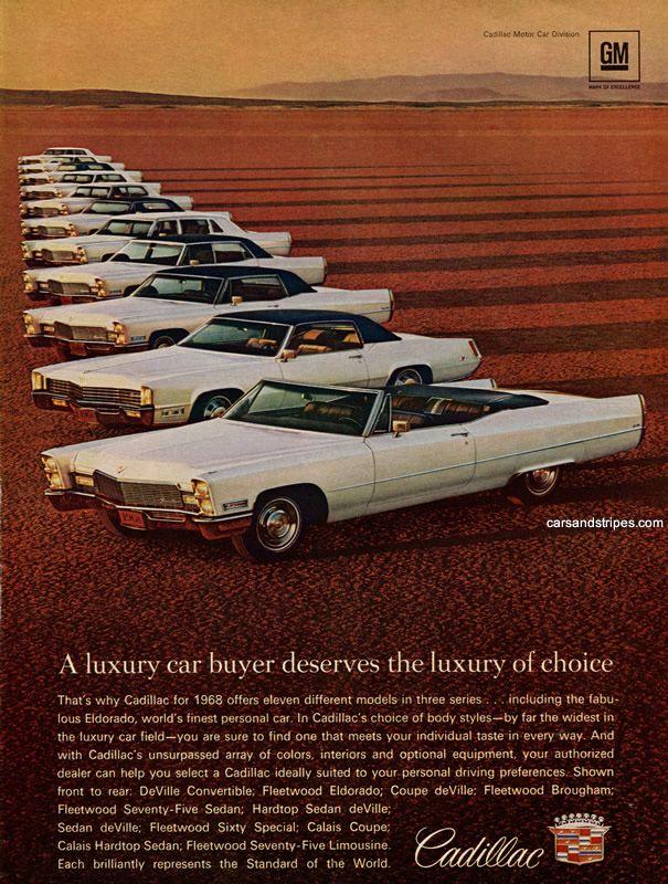 1968 Cadillac - Original Ad | Vintage car ads,Plants and Dealerships