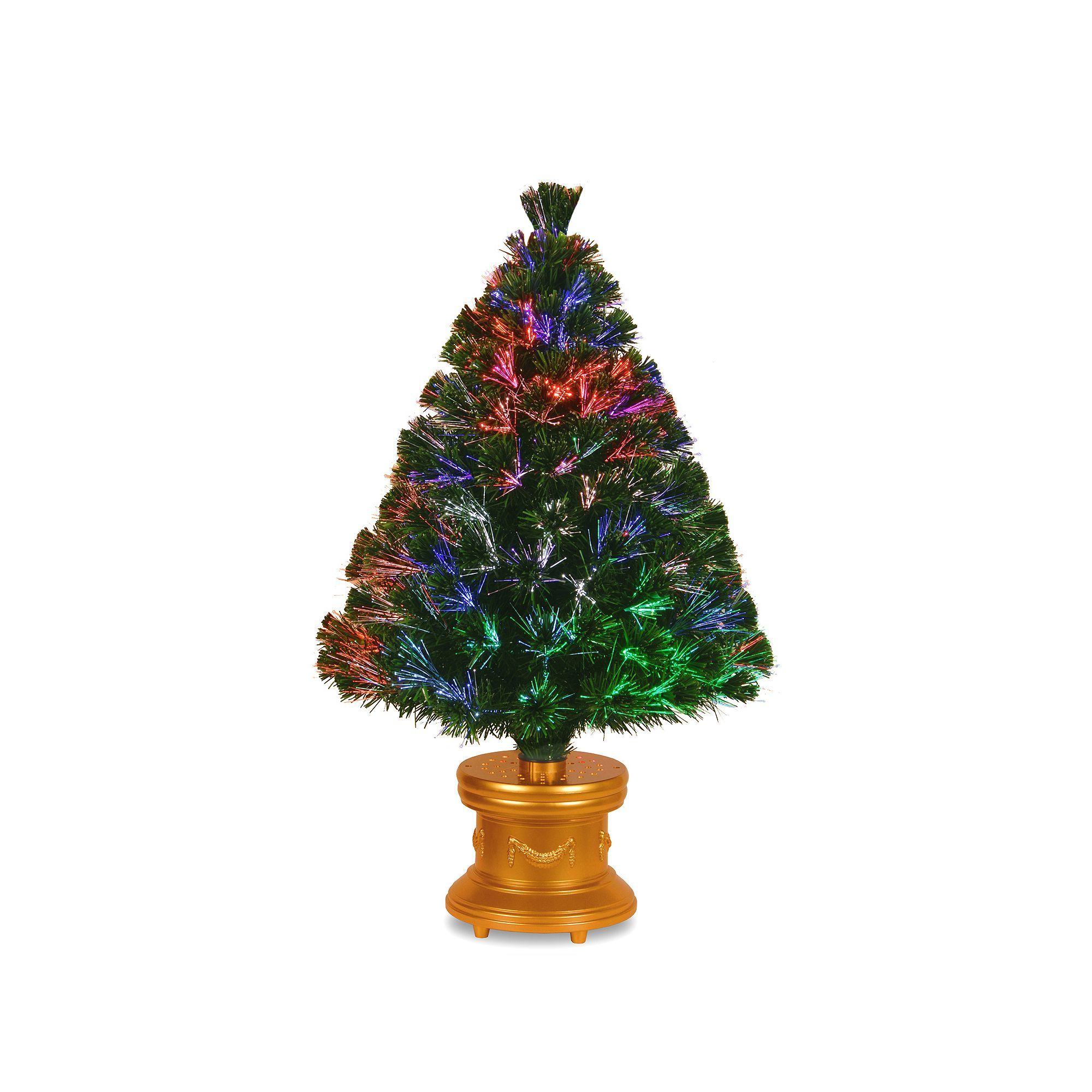 6f2428d44bc9 National Tree Company 36-in. Fiber Optic Evergreen Firework Artificial  Christmas Tree