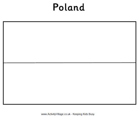 Poland Flag Colouring Page Poland Flag