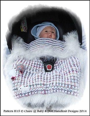 Chunky Balloon Motif Car Seat Blanket-knitting pattern, car seat blanket, blanket, baby