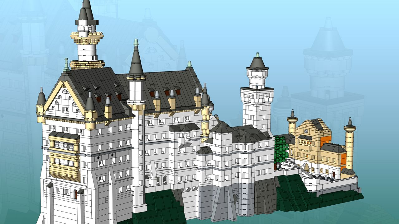 Neuschwanstein Castle Bavaria Neuschwanstein Castle Lego Architecture Lego Castle