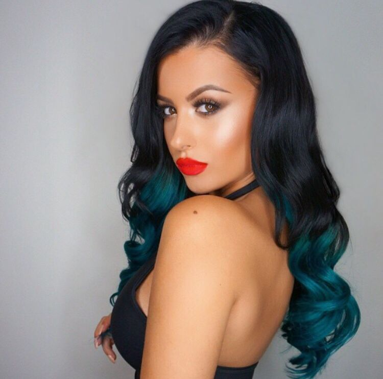 Wishing Kylie Kouture Extensions Made Teal Blonde