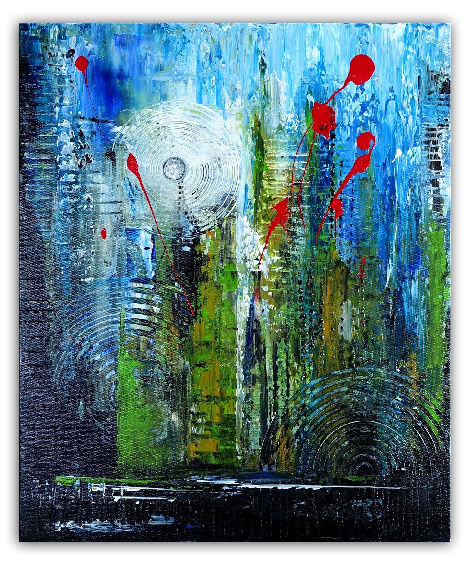 251 Verkaufte Abstrakte Malerei Rot Blau Querformat Abstrakte Wandbilder Original Gemalde Kunst Malerei Kunstwerke Unikat Abstrakte Malerei Abstrakt Malerei