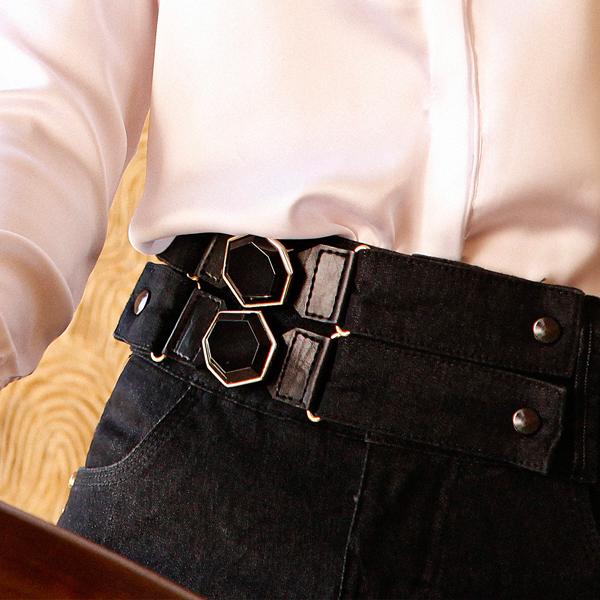 Veja mais de perto esse lindo detalhe na saia jeans Titanium inverno 2014!