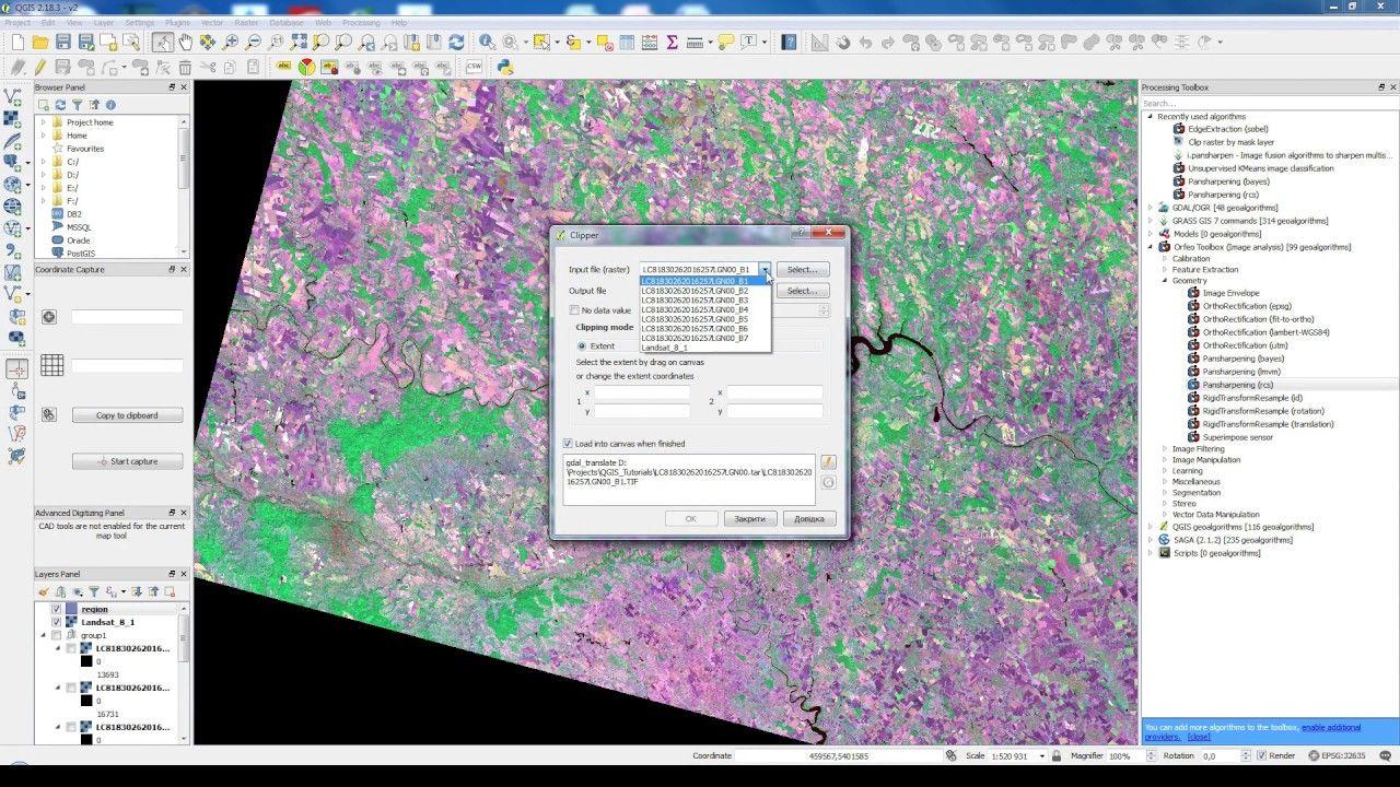 How to clip Landsat 8 image in QGIS | Geospatial / GIS