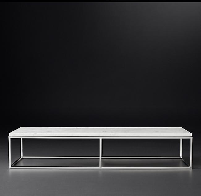 Nicholas Marble Large Rectangular Coffee Table Rectangular