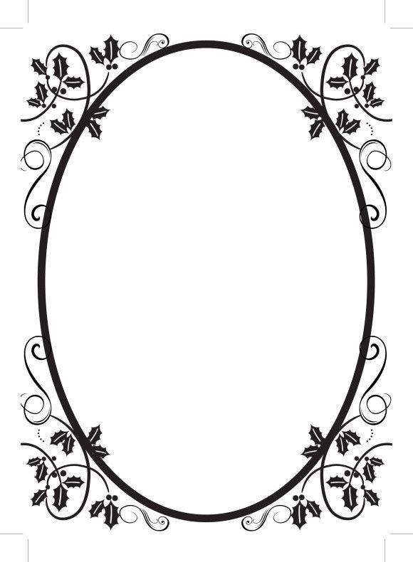 simple oval border frames (52443 | Borders | Flourish ...