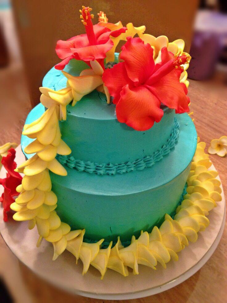 Hawaiian Birthday Cakes Themed Cupcakes Luau