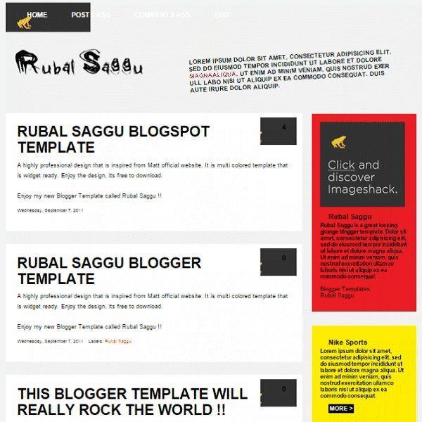 25 SEO Ready Blogger Templates Download Free!   Blogger\'s Origin ...