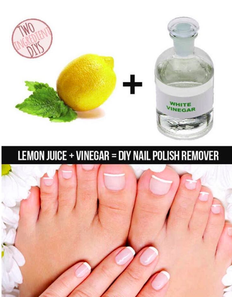 If you run out of nail polish remover, mix together equal parts ...