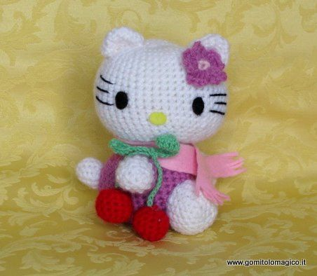 Hola gatito | amiguirrumis | Pinterest | Hola, Gato y Ganchillo