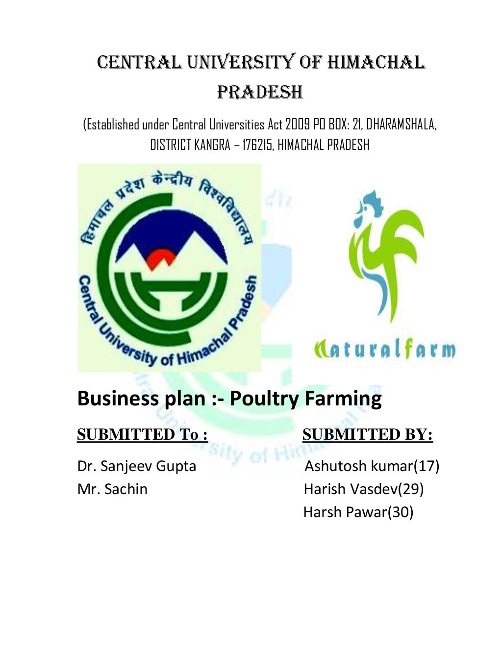 B plan(Poultry Farming) by Harish Vasdev via slideshare