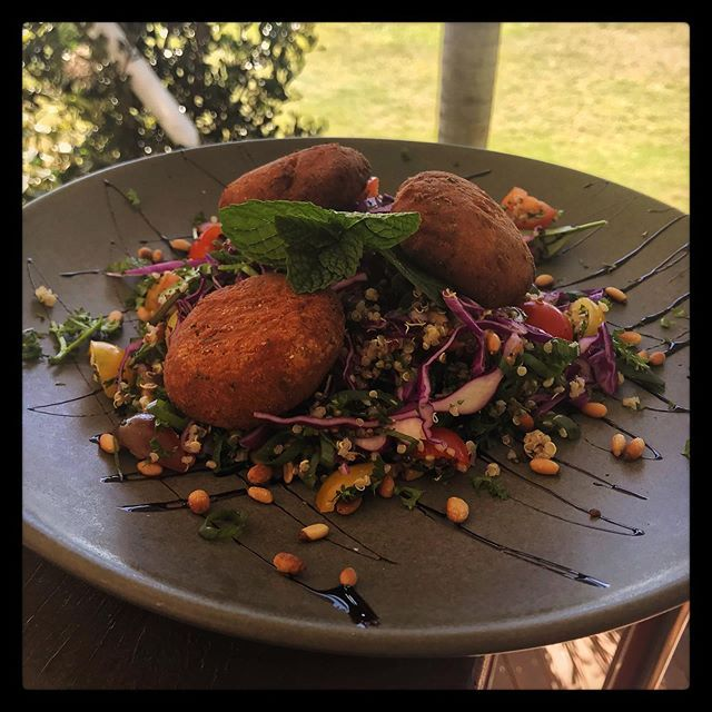 Coming Soon to The Harbour View Restaurant, Vegan & Gluten Free Falafel with Quinoa Tabouli Salad 🥗#vegan