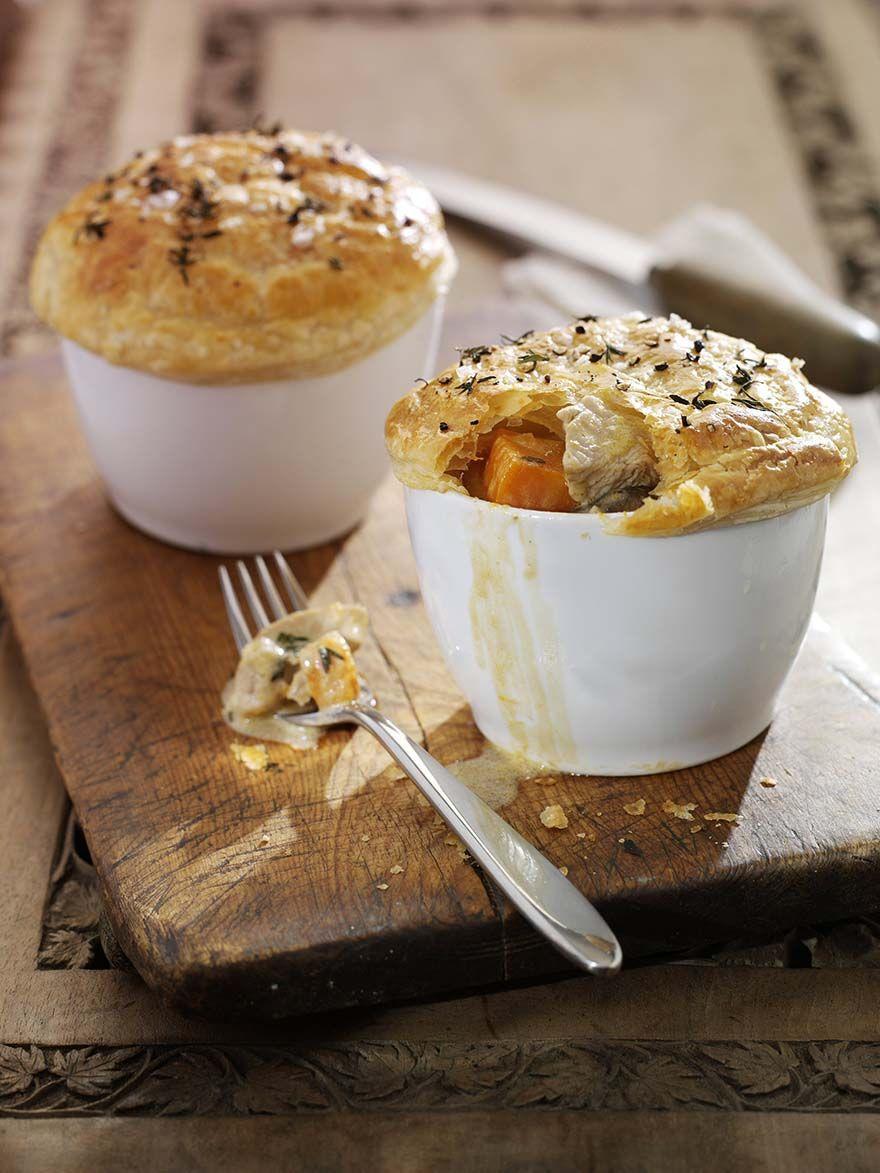 Individual leftover turkey and stilton pies | Recipe ...