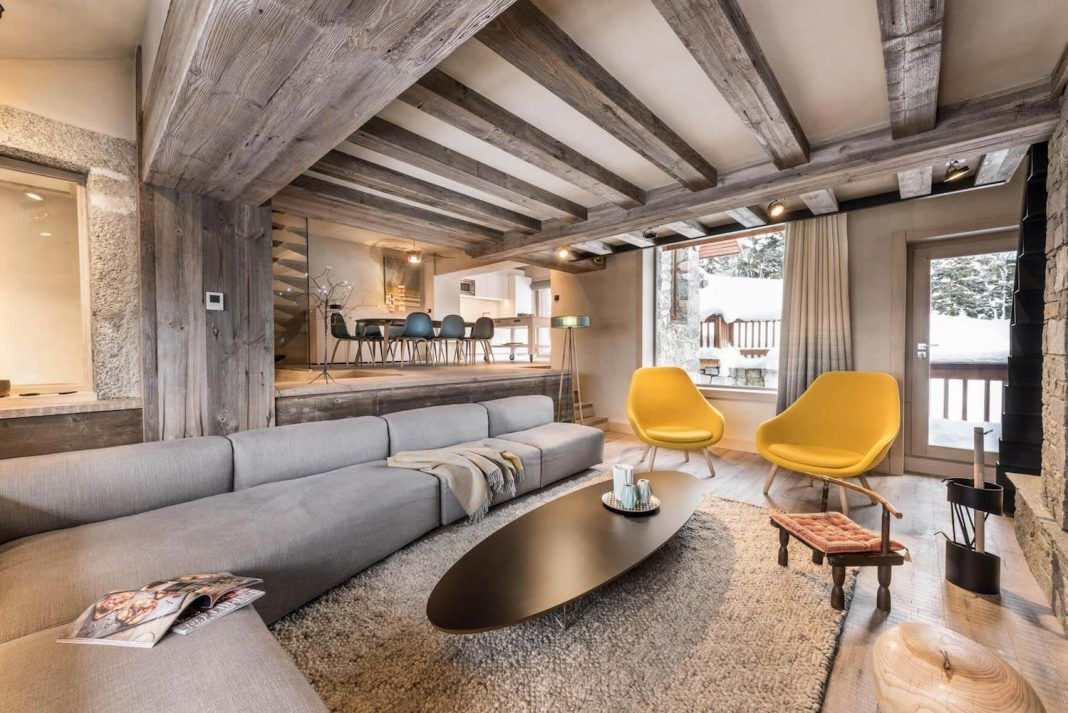 Meribel Chalet Mixes Well Traditional Look Mountain Home