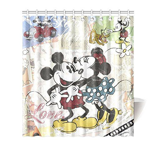 Robot Check Disney Decor Disney Shower Curtain Mickey Minnie Mouse