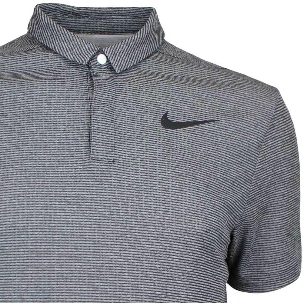 54b087812 Nike Golf Shirt - Aeroreact Stripe - White AW17 (Jason Day