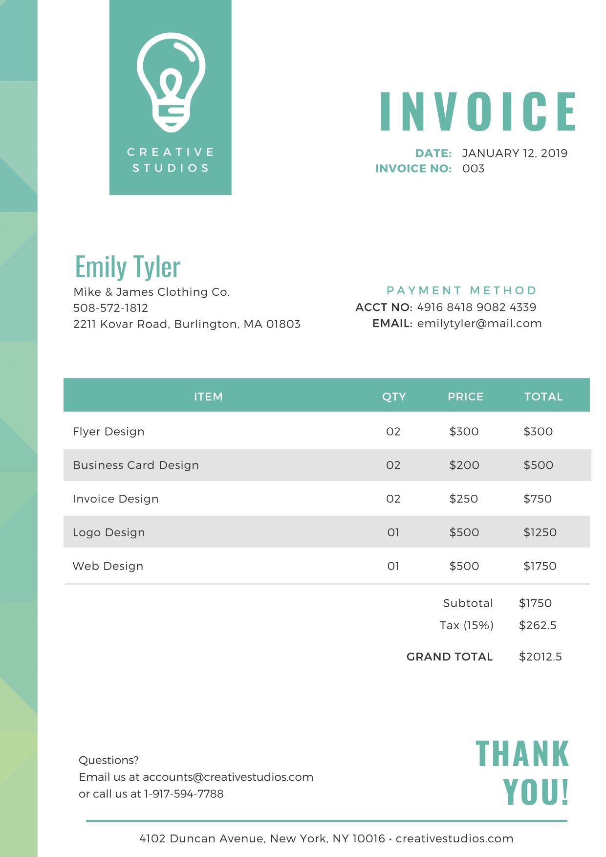 Beautiful Invoice Templates For Uk Sole Traders Ltds And More