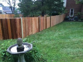 26 1x6 Cedar Solid Board Fence With Cap Board Don T Like Fence Cedar Western Design