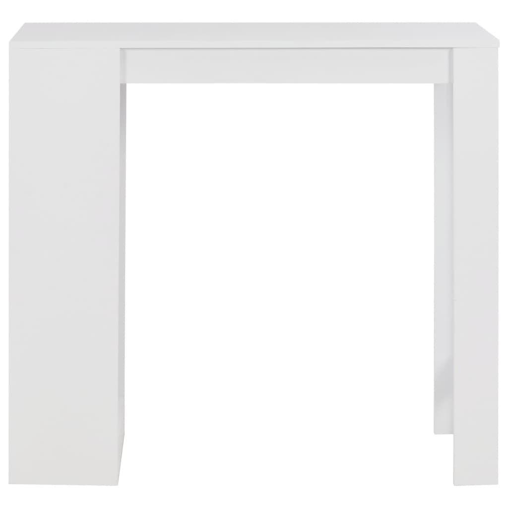 Photo of vidaXL Bar Table with Shelf White 110x50x103 cm