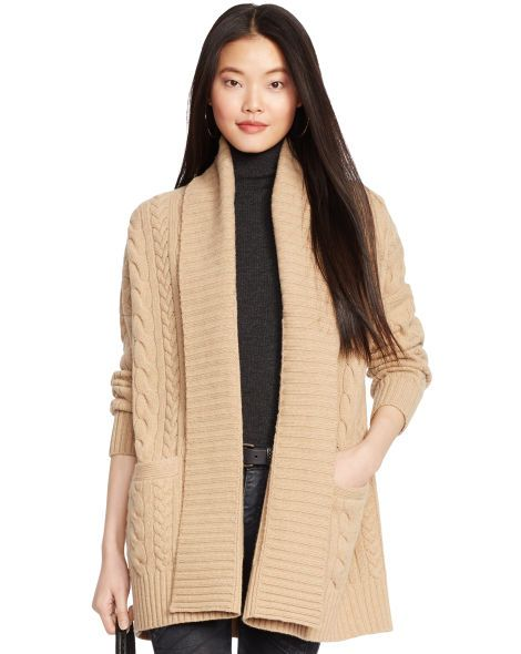 Cabled Wool-Cashmere Cardigan - Polo Ralph Lauren Cardigans ...