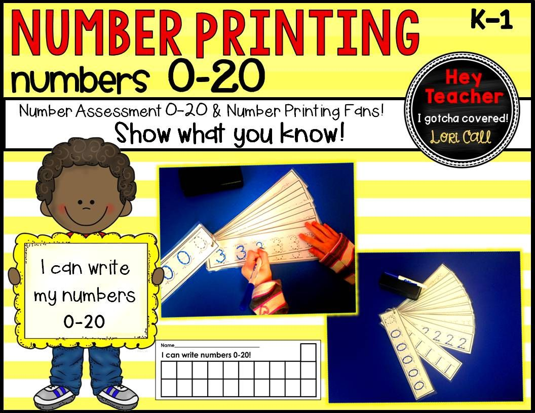Do your students need extra practice printing numbers 0-20? Check out this quick assessment and printing practice number fans!