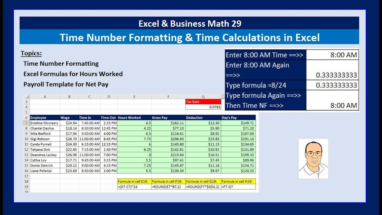 payroll calculations in excel