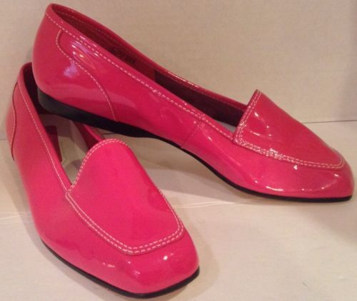 Enzo Angiolini Women's Hot Pink Patent Leather Flats #Shoes 'Liberty' Size  ...