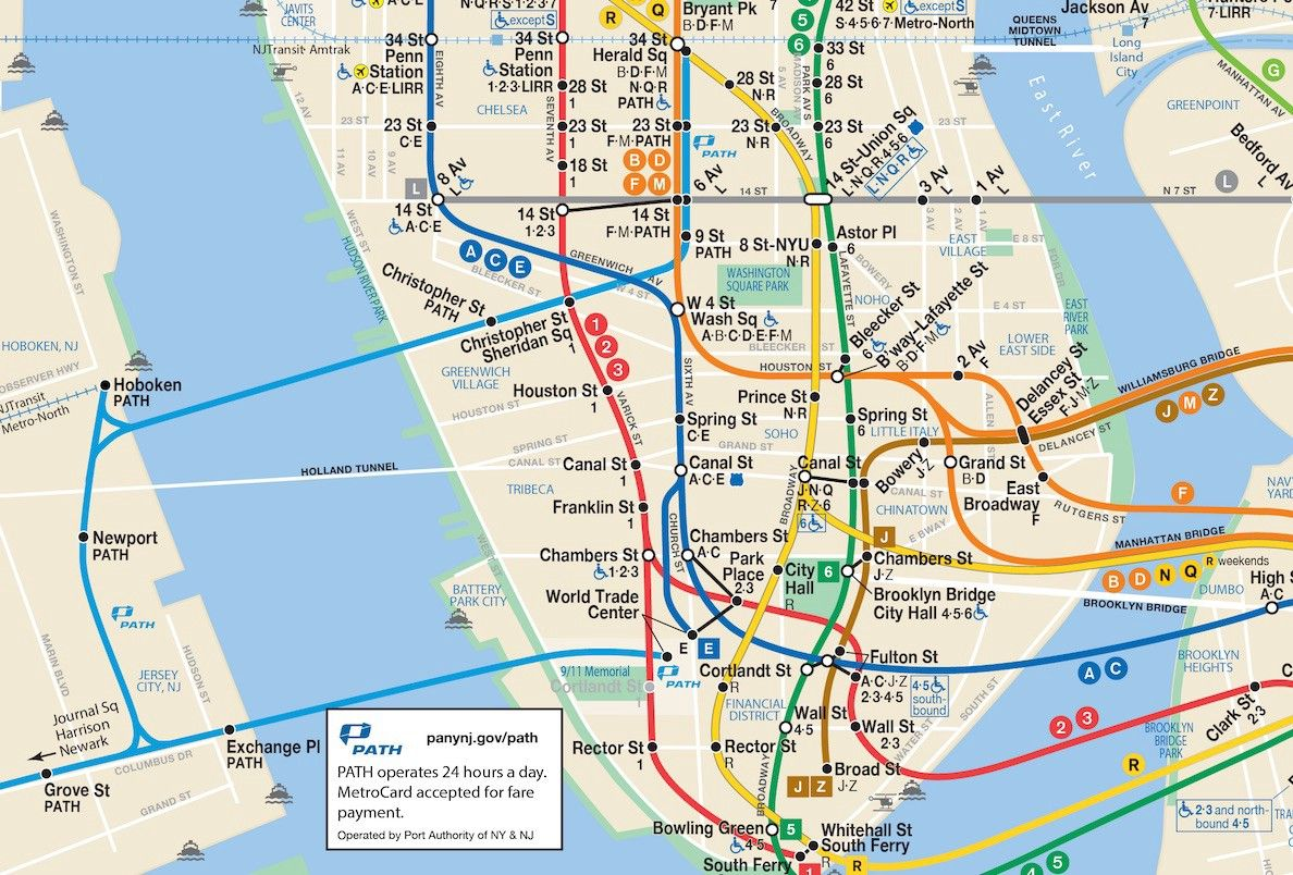 A More Complete Transit Map For New York New Jersey Nyc Subway Map New York Subway Subway Map