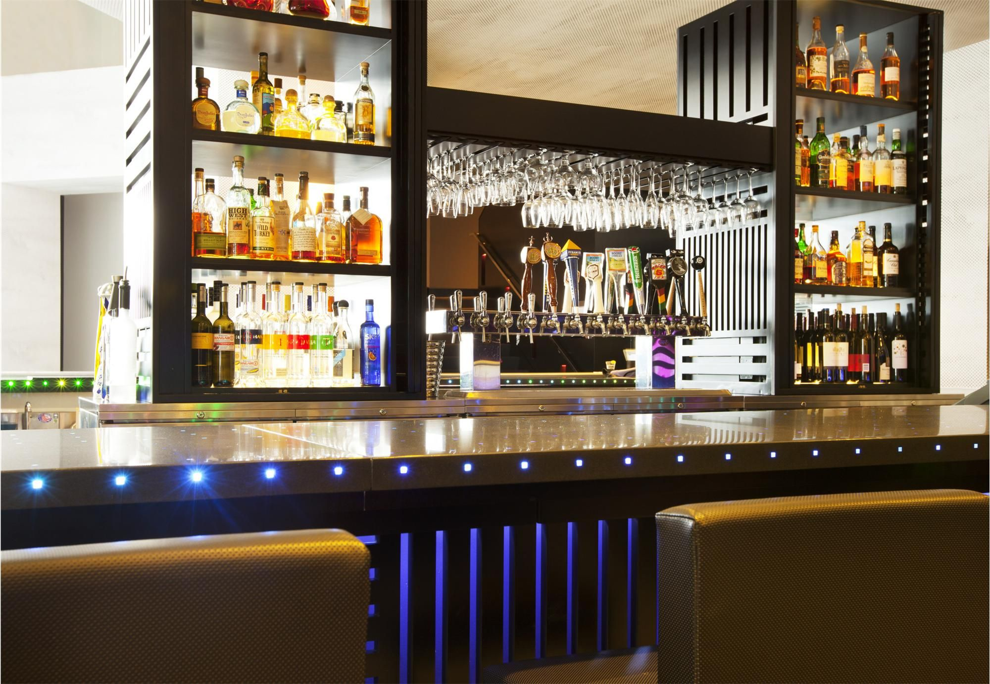 Bar At The W San Francisco Hotellove LED Lights In Living Room