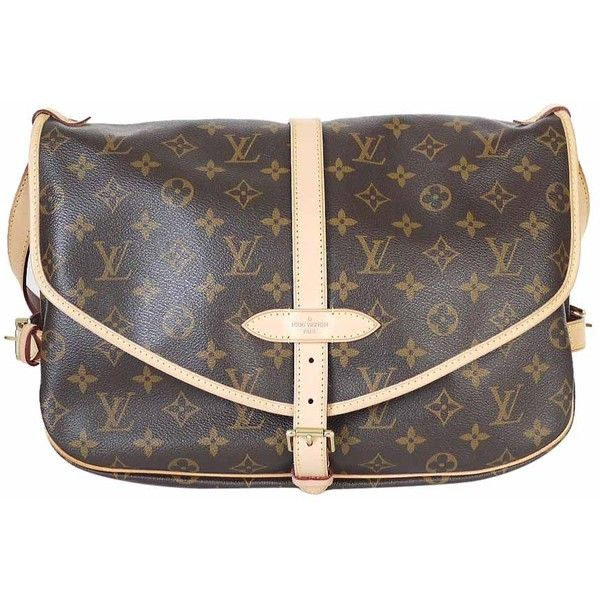 Pre-Owned Louis Vuitton Monogram Saumur GM Cross-body Bag M40662 ($1,400) ❤ liked on Polyvore featuring bags, handbags, shoulder bags, louis vuitton handbags, louis vuitton, louis vuitton purses and louis vuitton shoulder bag