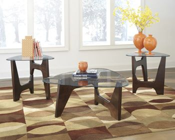 Glass top occassional tables with contemporary flair!